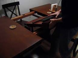antique table with hidden leaf winnersonly butterfly leaf table youtube
