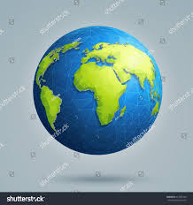 Earth World Map by Earth World Map Polygonal 3d Globe Stock Vector 413287390