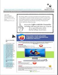 getting the word out newsletters the middle counselor