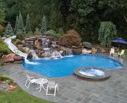 Water Slide Backyard Inground Swimming Pool Water Slide U2022 Swimming Pools