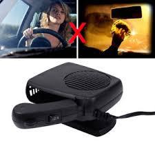 plug in car fan abs 200w portable ceramic car fan heater cooler caravan plugin