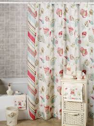 coral beach themed shower curtain best house design wonderful