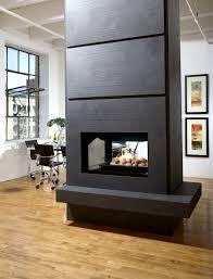 ideas inspiration stylish wall mounted black fireplace with art