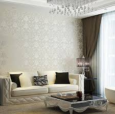 wallpaper for livingroom 30 and chic living rooms with damask wallpaper rilane