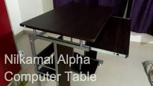 nilkamal kitchen furniture nilkamal alpha computer table youtube