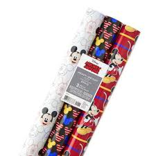 mickey mouse christmas wrapping paper hallmark disney mickey mouse christmas wrapping paper rolls