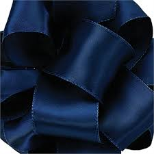 navy blue wired ribbon contessa wired edge ribbon offray ribbon