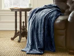 Faux Fur Throw Blanket Luxury Faux Fur Throws Indigo