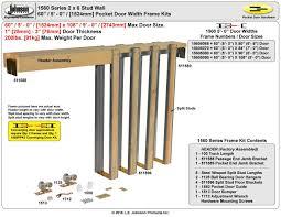 johnson hardware 1560 pocket door frame jhusa net sliding