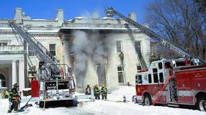 former woolworth mansion damaged by fire one of last grand north