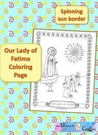 our lady of fatima coloring page free printable drawn2bcreative