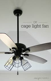Lighting Ceiling Fixtures Diy Cage Light Ceiling Fan Wonderful