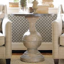 cream round end table hooker furniture round accent table to create its modern organic