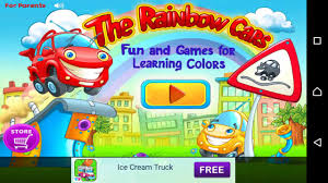 rainbow cars rainbow cars kids learn color fun game for children game for