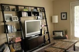 modern white ladder shelf for elegant room design u2014 optimizing