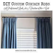 Kravet Double Suqare Traversing Rod by Unique Design Custom Curtain Rods Ohio Basement Waterproofing
