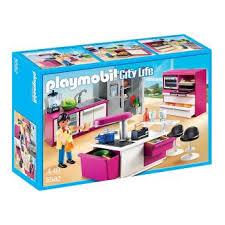 fnac cuisine playmobil city 5582 cuisine avec îlot playmobil achat