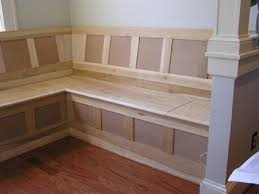 Kitchen Bench Seating With Storage Plans by Banquette Corner Bench With Storage Build Corner Bench With