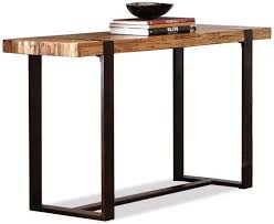 Distressed Sofa Table by Riverside Furniture Teton Distressed Rectangular Sofa Table With