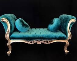 Borne Settee Tufted Velvet Sofa Etsy