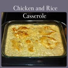 easy chicken and rice casserole 1 can cream of mushroom