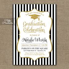 graduation invitation black gold graduation invitations nifty printables