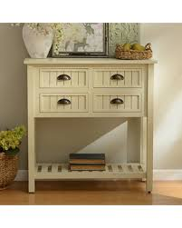 sanctuary 4 drawer console table amazing deal on buttermilk beadboard 4 drawer console table