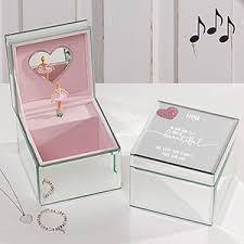 baby personalized jewelry personalized baby girl mirrored ballerina box heart