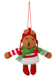 Myer White Christmas Decorations by Vue Jingle Bells Felt Bear With Red And White Knit Jumper Myer