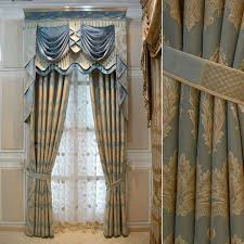 Blue And Gold Curtains Blue White Gold Drapes House Hotel Curtains For Living Room Gold