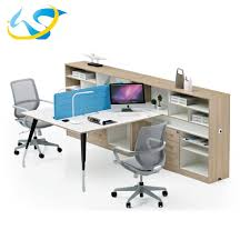 Office Table With Partition Office Table Modular Office Furniture Office Partition Alibaba Com