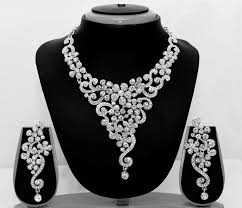silver jewellery necklace sets images Designer bollywood indian bridal silver necklace earrings tikka jpg