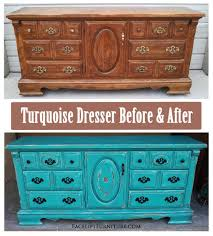 How To Make Furniture Look Rustic by Rustic Turquoise Dresser Before U0026 After Facelift Furniture