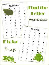 find the letter f is for frogs u2013 3 boys and a dog
