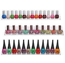 amazon com set of 3 wall mounted clear acrylic nail polish