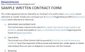 sample construction loan agreement lending money contract form