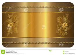 business card template gold card stock illustration image