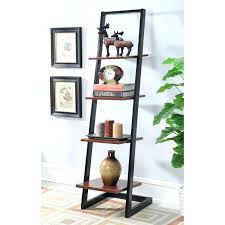 espresso book shelves with ladder for sale thin ladder shelf glass