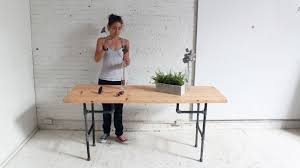 Diy Standing Desk Awesome Diy Plumbers Pipe Standing Desk Picture Of Ideas And