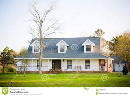 white ranch style american home royalty free stock images image