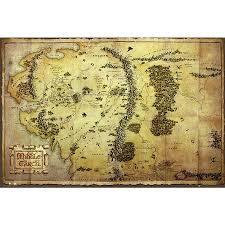 map hobbit the hobbit poster map of middle earth posters buy now in