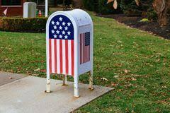 cassetta della posta americana cassetta postale americana immagine stock immagine di fogli 864205