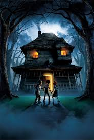 monster house hi res textless poster by phet van burton movies