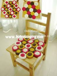 cushions for my dining room chairs crochet chair pads crochet