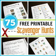 75 free printable scavenger hunts my filled