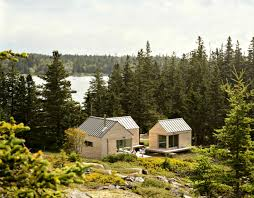 cabin home designs three in one maine cabins take separate bedrooms to a whole new