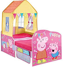 Toddler Bed Tent Canopy Peppa Pig Toddler Bed And Canopy By Hellohome Amazon Co Uk