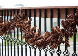 how to make a pine cone garland bren did