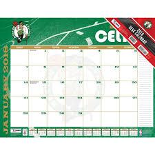 desk pad calendar 2018 boston celtics 2018 desk pad 9781469350738 calendars com