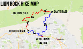 Mtr Map Lion Rock Hike Map Hong Kong 1 Getting Stamped